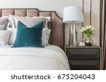 classic bedroom style with set... | Shutterstock . vector #675204043