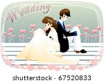 wedding story | Shutterstock .eps vector #67520833