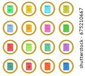 file extension icons circle... | Shutterstock .eps vector #675210667