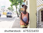 las terrenas  dominican... | Shutterstock . vector #675221653