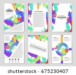 abstract vector layout... | Shutterstock .eps vector #675230407