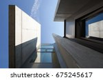 closeup modern architecture.... | Shutterstock . vector #675245617