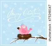 lettering merry christmas on... | Shutterstock .eps vector #675248167