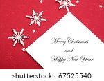 christmas card with greetings | Shutterstock . vector #67525540