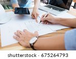 image of engineer meeting for...   Shutterstock . vector #675264793