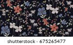 seamless floral pattern in... | Shutterstock .eps vector #675265477