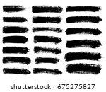 set of black paint  ink brush... | Shutterstock .eps vector #675275827