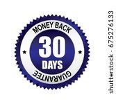 blue 30 days money back... | Shutterstock .eps vector #675276133