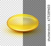 translucent soft gel capsule... | Shutterstock .eps vector #675289603