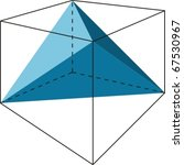 cube with tetrahedron | Shutterstock .eps vector #67530967