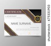 certificate premium template... | Shutterstock .eps vector #675331903