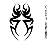 tattoo tribal vector designs. | Shutterstock .eps vector #675346297