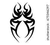 tribal tattoo art designs.... | Shutterstock .eps vector #675346297