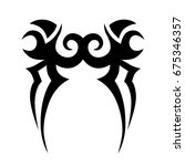 tribal tattoo art designs.... | Shutterstock .eps vector #675346357