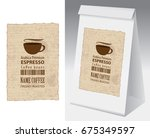 paper packaging with label for... | Shutterstock .eps vector #675349597