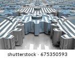 design element. 3d illustration.... | Shutterstock . vector #675350593