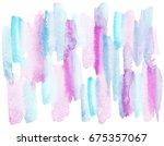 hand painted watercolor... | Shutterstock . vector #675357067