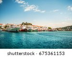 skiathos  greece   june 27 ... | Shutterstock . vector #675361153