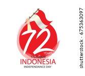 72 years indonesian... | Shutterstock .eps vector #675363097
