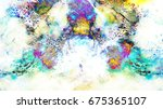 background pattern with fractal ... | Shutterstock . vector #675365107