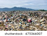 pile of domestic garbage in... | Shutterstock . vector #675366007