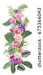floral tropical vertical border ... | Shutterstock .eps vector #675366043