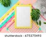 modern and playful mock up... | Shutterstock . vector #675375493
