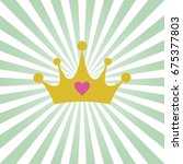 princess background with crown   Shutterstock .eps vector #675377803