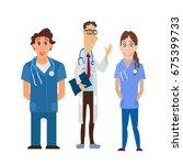 medical team. group of hospital ... | Shutterstock . vector #675399733