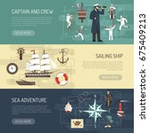 sailing ship history captain... | Shutterstock .eps vector #675409213