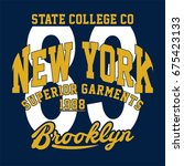 graphic state college for shirt ... | Shutterstock .eps vector #675423133