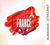 france  bastille day design ... | Shutterstock .eps vector #675423967