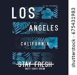 tee print vector design with... | Shutterstock .eps vector #675431983