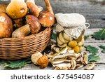 Boletus Mushrooms Pickled In...