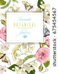 vector herbal tea vertical... | Shutterstock .eps vector #675454567