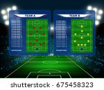 owed of fan in football stadium ... | Shutterstock .eps vector #675458323