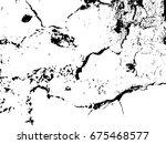 grunge texture. cracks. vector... | Shutterstock .eps vector #675468577