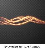 shiny spiral. travelling light... | Shutterstock .eps vector #675488803