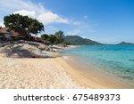beautiful tropical beach lamai... | Shutterstock . vector #675489373