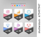 infographic template of six... | Shutterstock .eps vector #675497947