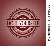 do it yourself red emblem | Shutterstock .eps vector #675505393