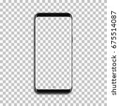 black phone mock up with blank... | Shutterstock .eps vector #675514087