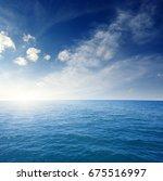 blue sea  sun and sky | Shutterstock . vector #675516997