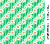 seamless pattern of daisies ... | Shutterstock .eps vector #675527563