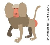 Baboon Icon. Cartoon...