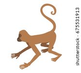 playful monkey icon. cartoon... | Shutterstock .eps vector #675531913