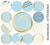 set of 13 round templates ... | Shutterstock .eps vector #675536563