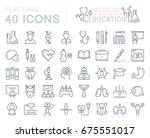 set of line icons  sign and... | Shutterstock . vector #675551017