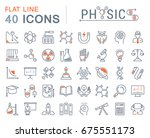 set of line icons  sign and... | Shutterstock . vector #675551173