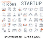 set of line icons startup and... | Shutterstock . vector #675551203